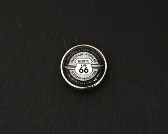 Pressure 18mm for jewelry fantasy cabochon - Route 66