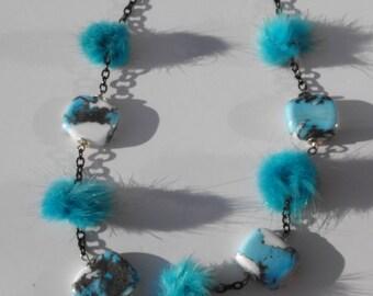 Spun glass CL.0758 necklace