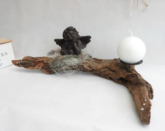 Candle holder Center table * Angel and Driftwood * country chic style