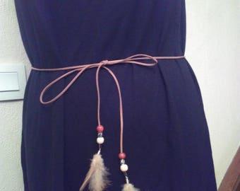 Camel colored suede belt