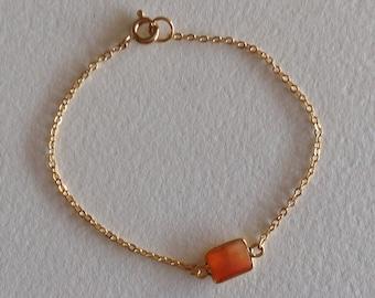 Vermeil plated orpierre cornelian set bracelet
