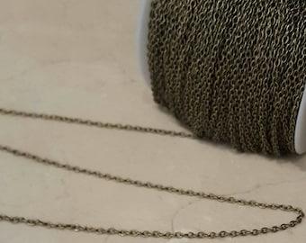 2 meters of chain in antique bronze 2 mm