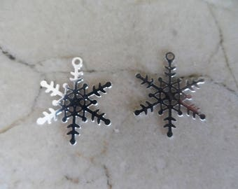 "2 charms snowflakes ""snow Queen"""