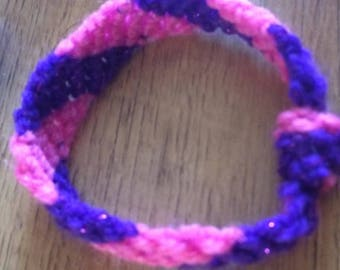 Pink & Sparkly purple bracelet