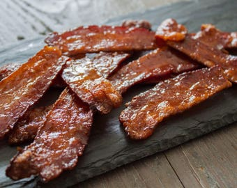 Brown Sugar Maple Candied Bacon Strips