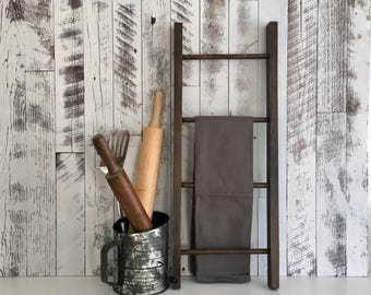 Wooden Ladder/Wood Ladder/Farmhouse Ladder/Towel Ladder/Rustic Wood Ladder/Decorative Ladder/Wall Ladder/Rustic Ladder