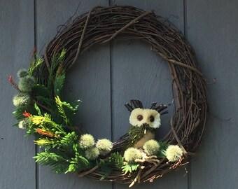 Whooo Loves Owls Wreath