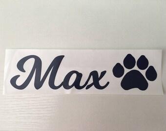 Dog Paw Print Vinyl Decal