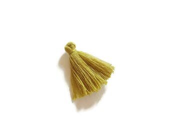 Khaki green cotton tassel