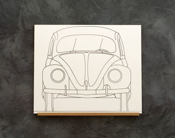 VW Beetle shield illustrated preview
