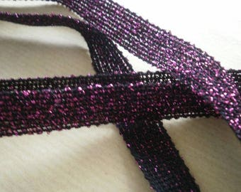Cute little Ribbon and synthetic black and bright fuchsia, 15 mm wide