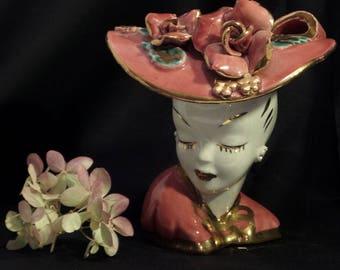Lady's Head Vase/Rare