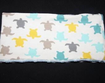 Snood child jersey / minkee turtles pattern 47 cm