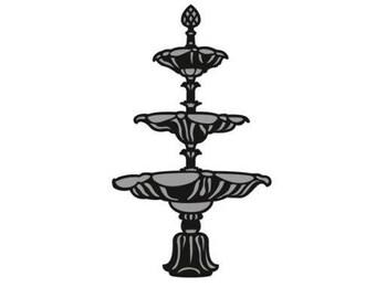 Die cut Marianne Design Craftables new fountain