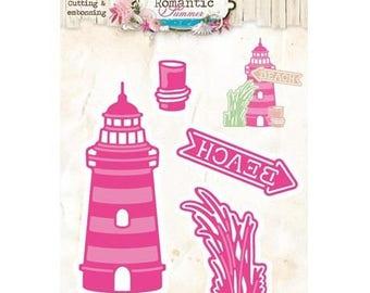 Die cut StudioLight Romantic Summer nr.07 Lighthouse new