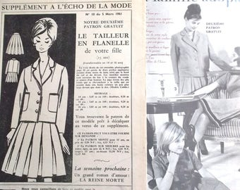 pattern sewing vintage suit skirt and jacket girl year 1961 No. 10