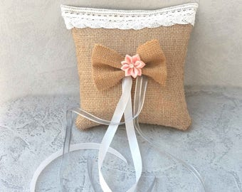 Romantic ring bearer pillow