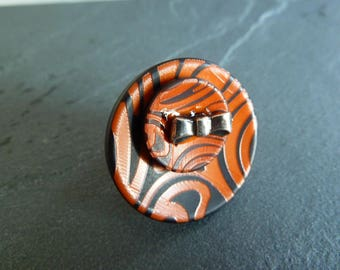 "Adjustable ring ""Zebra"""