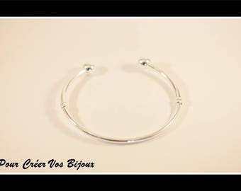 Bangle silver plated 18 cm