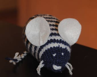 cute little mouse white and Blue Navy