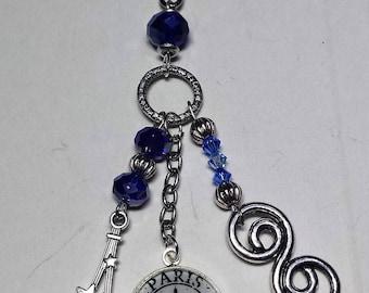 Paris Blue Crystal key