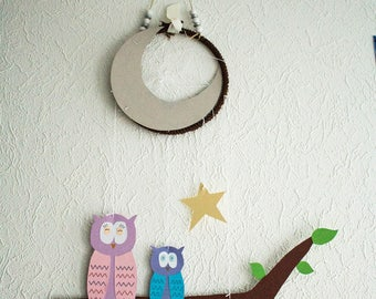 Dream catcher mobile model owls family