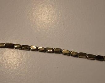 10 gold metal rectangular beads