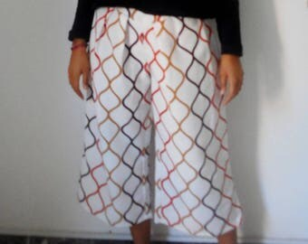 Palazzo pants in 3/4