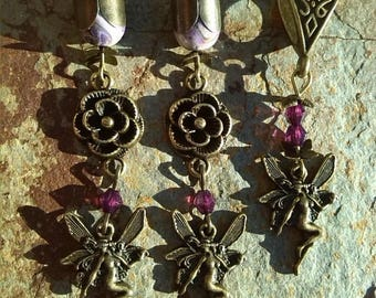 Set earrings elves and matching pendant