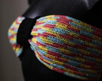 "Crochet headband ""Pop Club"" Bikini"