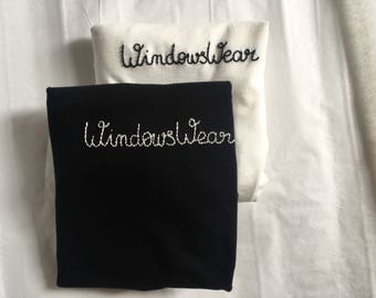 T-shirt embroidered with logo on request