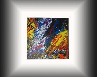 """Table 3D design large format """"Action painting""""Gravity"""""""