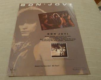 Bon Jovi CLIPPING 1st album 1984