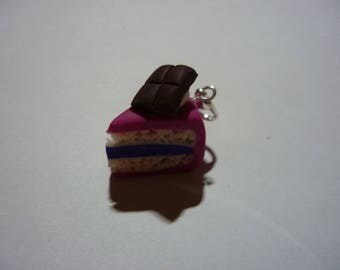 Charm'-sparkling pink cake in polymer clay