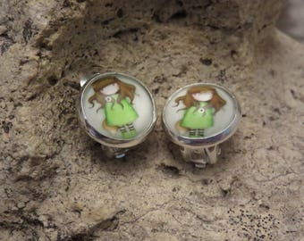 "Clip on earrings ""collection girl"" 3"