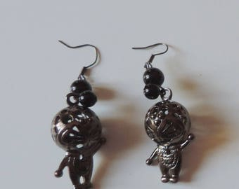 Robot cyber punk earrings
