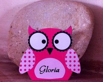 Mark up OWL fuchsia, pink & Black