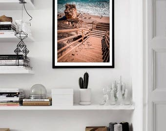 Beach Stairs, beach, wall art, home decor, print, photography, stairs