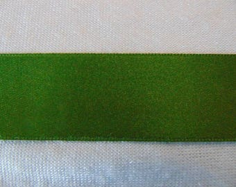 Satin ribbon, green Moss (S - 299)
