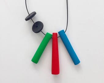 Shapes 3, Handmade Polymer Clay Pendant, Modern Pendant, Colourful Jewellery, Clay Jewellery.
