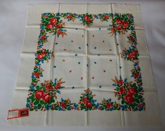 vintage wool handkerchief from the Soviet Union  4938