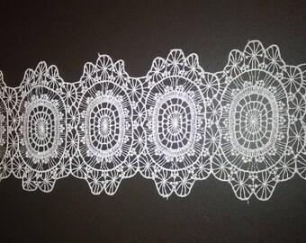 Sew in white guipure applique