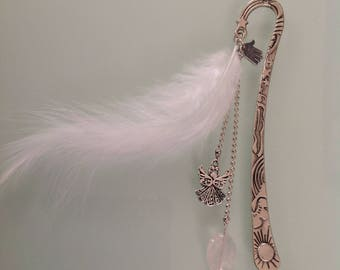 Silver theme bookmark Angel.