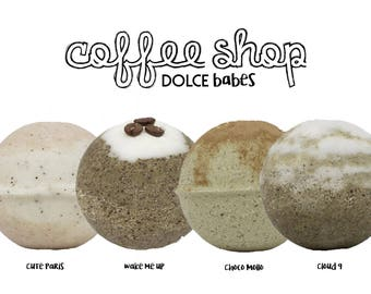 """Dolce Babes bath bombs """"COFFEE SHOP"""" pack."""