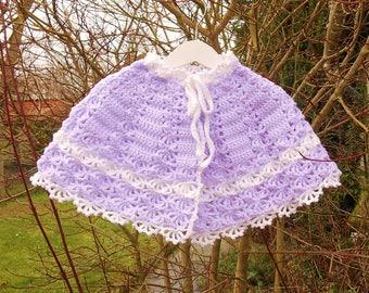 Shawl, crochet baby Cape.