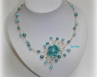 Wedding pink TURQUOISE necklace