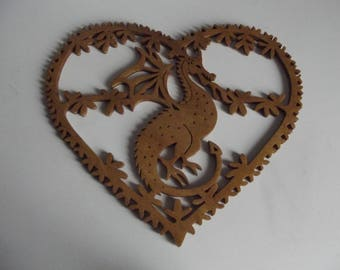 Nice dragon heart plate