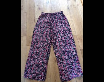 Vintage wide legged floral trousers