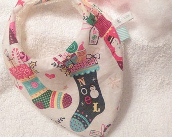 Bib bandana 0/6 month Christmas
