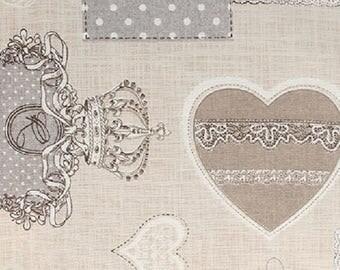 Cotton print Royal grey - coupon 30 x 90 cm - Ref 13020097